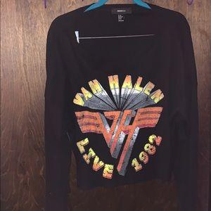 Van-Halen crop top